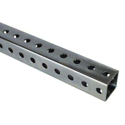 1-1/2 in  x 36 in  Zinc-Plated Punched Square Tube