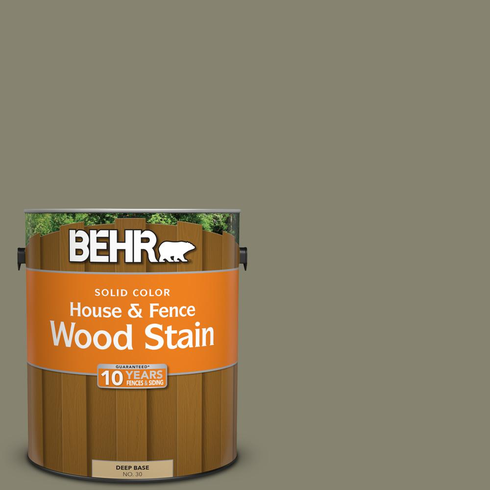 BEHR 1 gal. #SC-144 Gray Seas Solid Color House and Fence Wood Stain