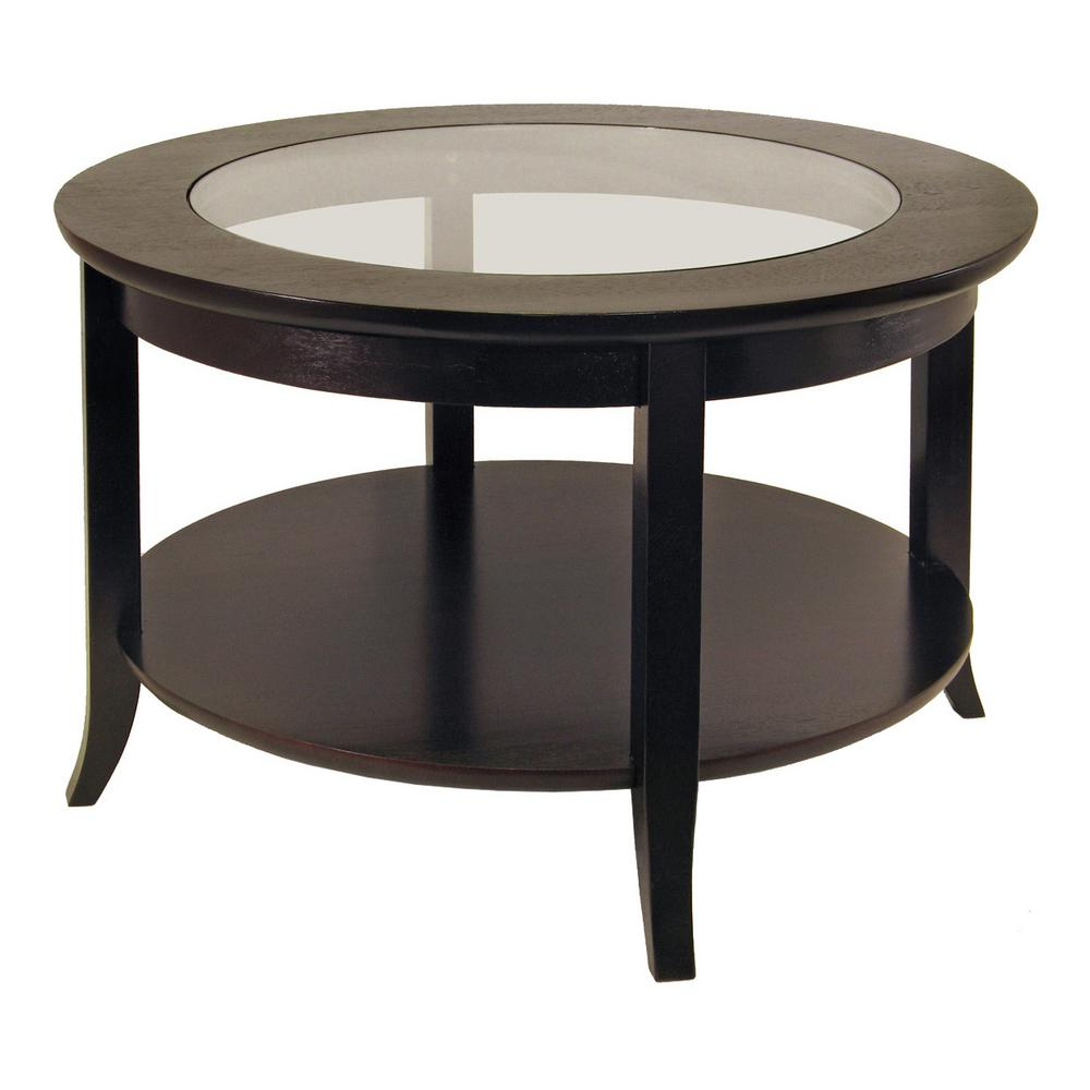 1caf7d28f855 Winsome Wood Genoa Espresso Coffee Table-92219 - The Home Depot