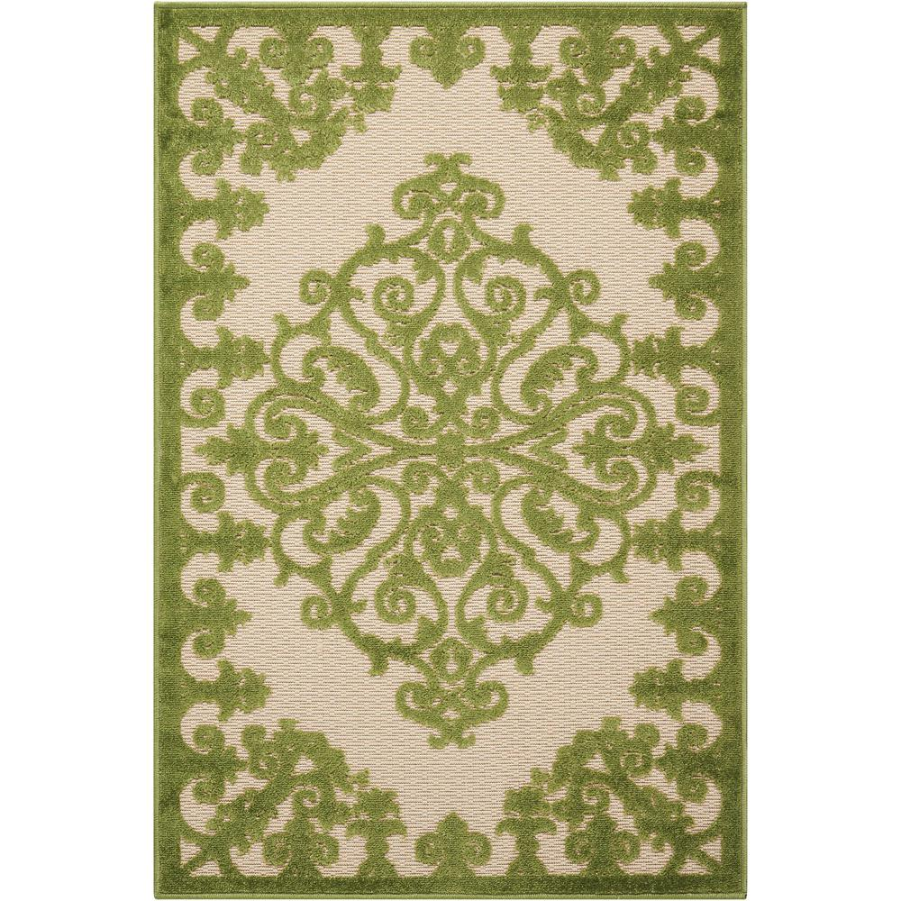 Nourison Aloha Green 3 Ft X 4 Ft Indoor Outdoor Area Rug