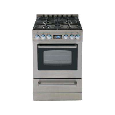 24 in. 2.6 cu. ft. Gas Range Stainless Steel