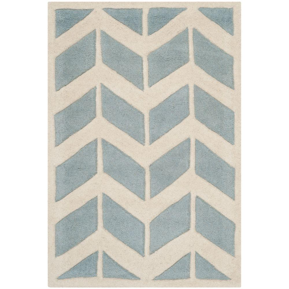 Chatham Blue/Ivory 2 ft. 6 in. x 4 ft. Area Rug