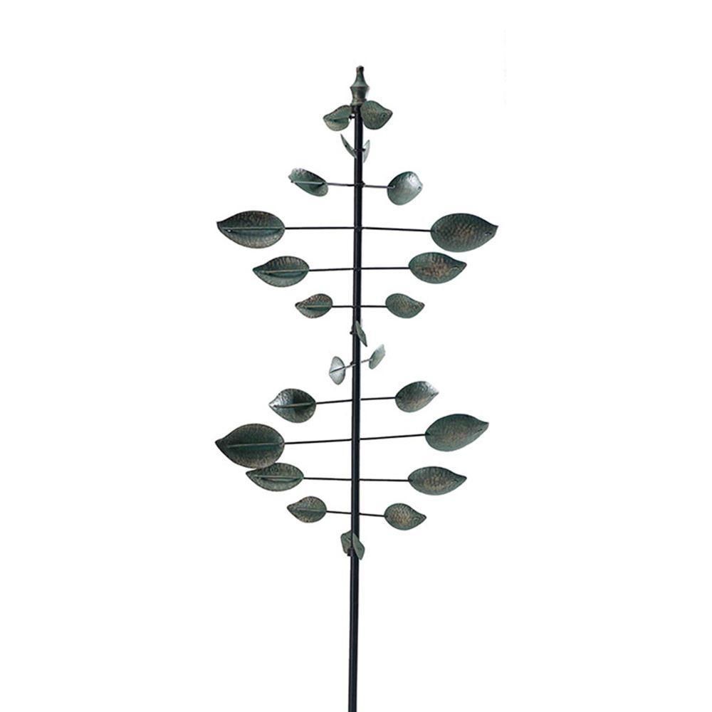 Verdigris Leaf Wind Catcher