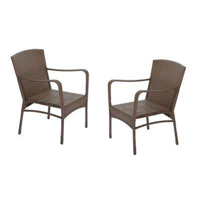 Leisure Brown Wicker Outdoor Lounge Chair (2-Pack)