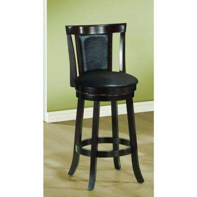 29 in. Cappuccino Swivel Cushioned Bar Stool