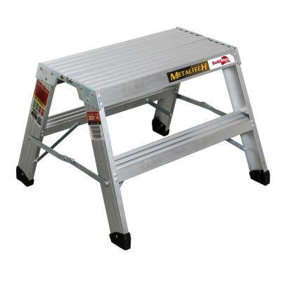 Buildman 1.98 ft. x 2.2 ft. x 2 ft. Aluminum Work Platform with Load Capacity 300 lbs.