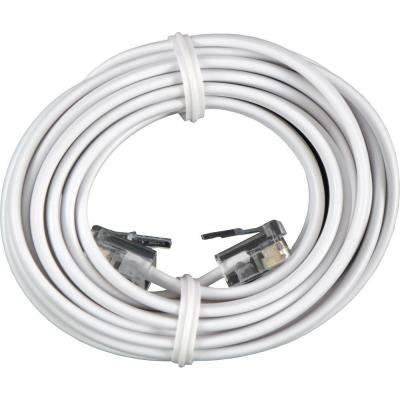 7 ft. 4C Phone Line Cord, White