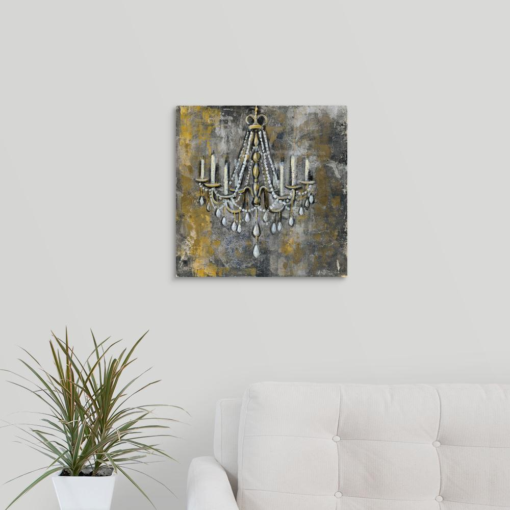 Greatbigcanvas Vintage Chandelier Ii By Silvia Vassileva Canvas Wall Art
