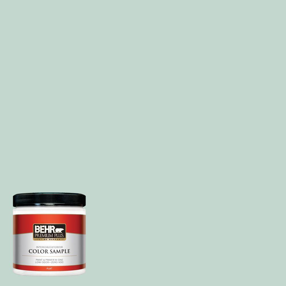 BEHR Premium Plus 8 oz. #470E-3 Aqua Smoke Interior/Exterior Paint Sample