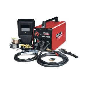 Lincoln Electric 88 Amp Handy MIG Wire Feed Welder with Gun, MIG and Flux-Cored Wire, Hand Shield, Gas... by Loln Electric