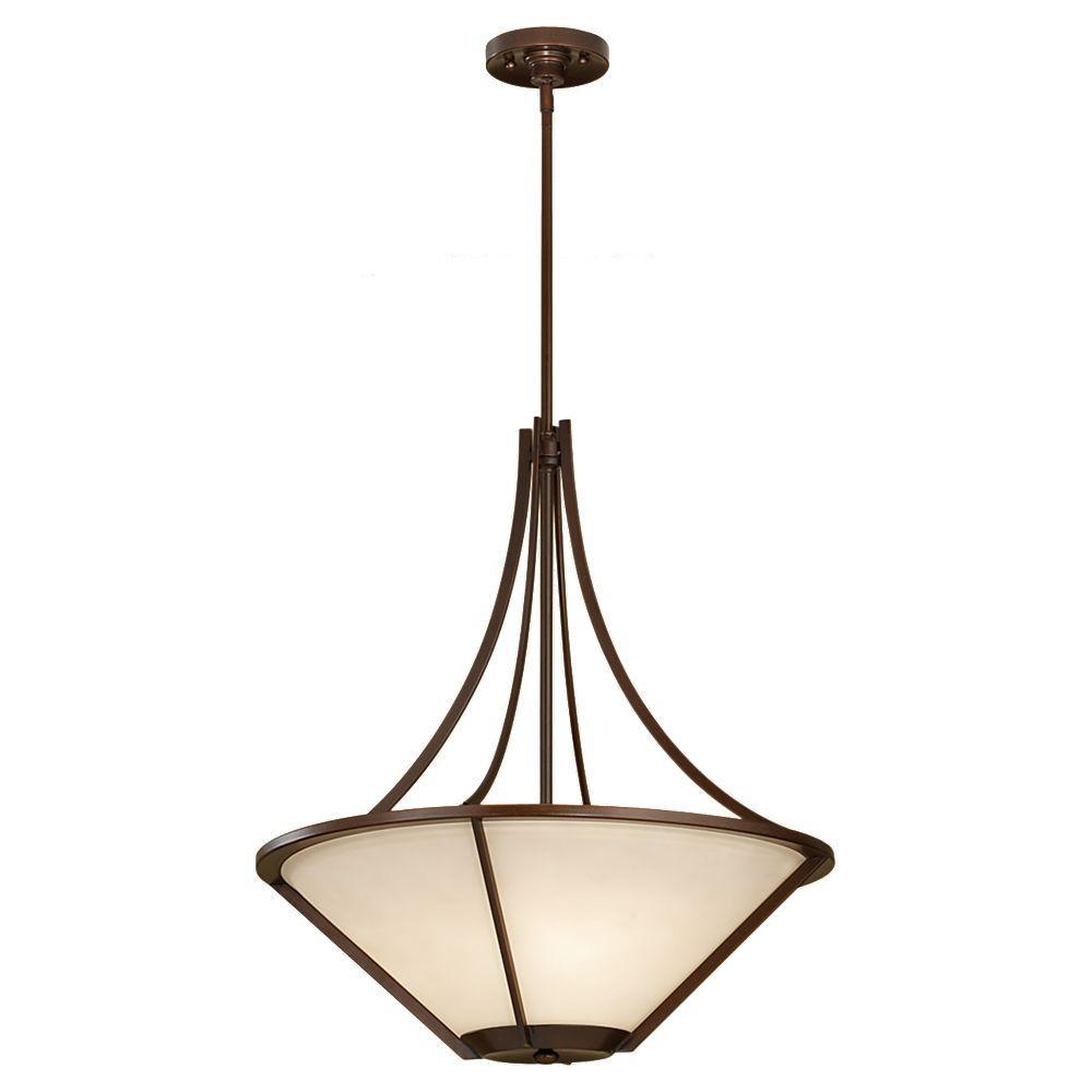 Nolan 3-Light Heritage Bronze Uplight Pendant