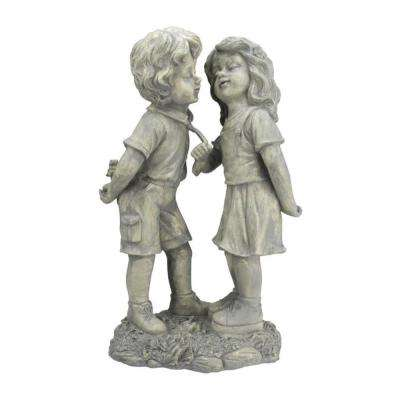 18-1/2 in. Boy and Girl First Kiss Statue