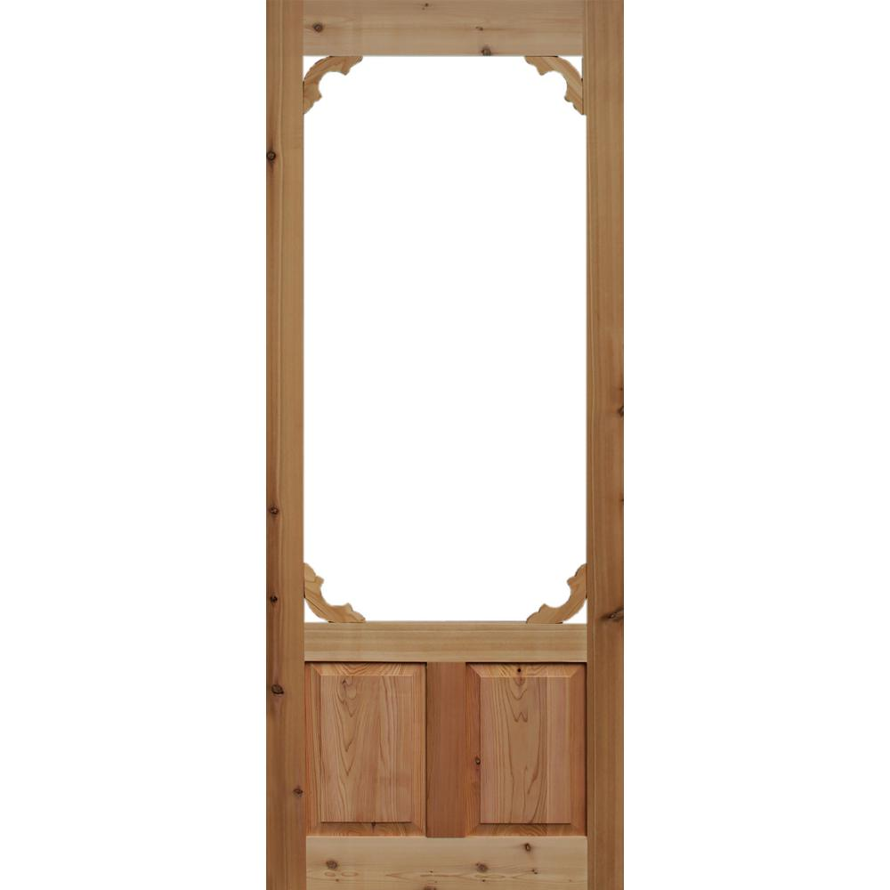 Genial 36 In. X 80 In. Woodland Cedar Screen Door