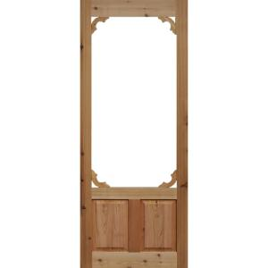36 in. x 80 in. Woodland Cedar Screen Door