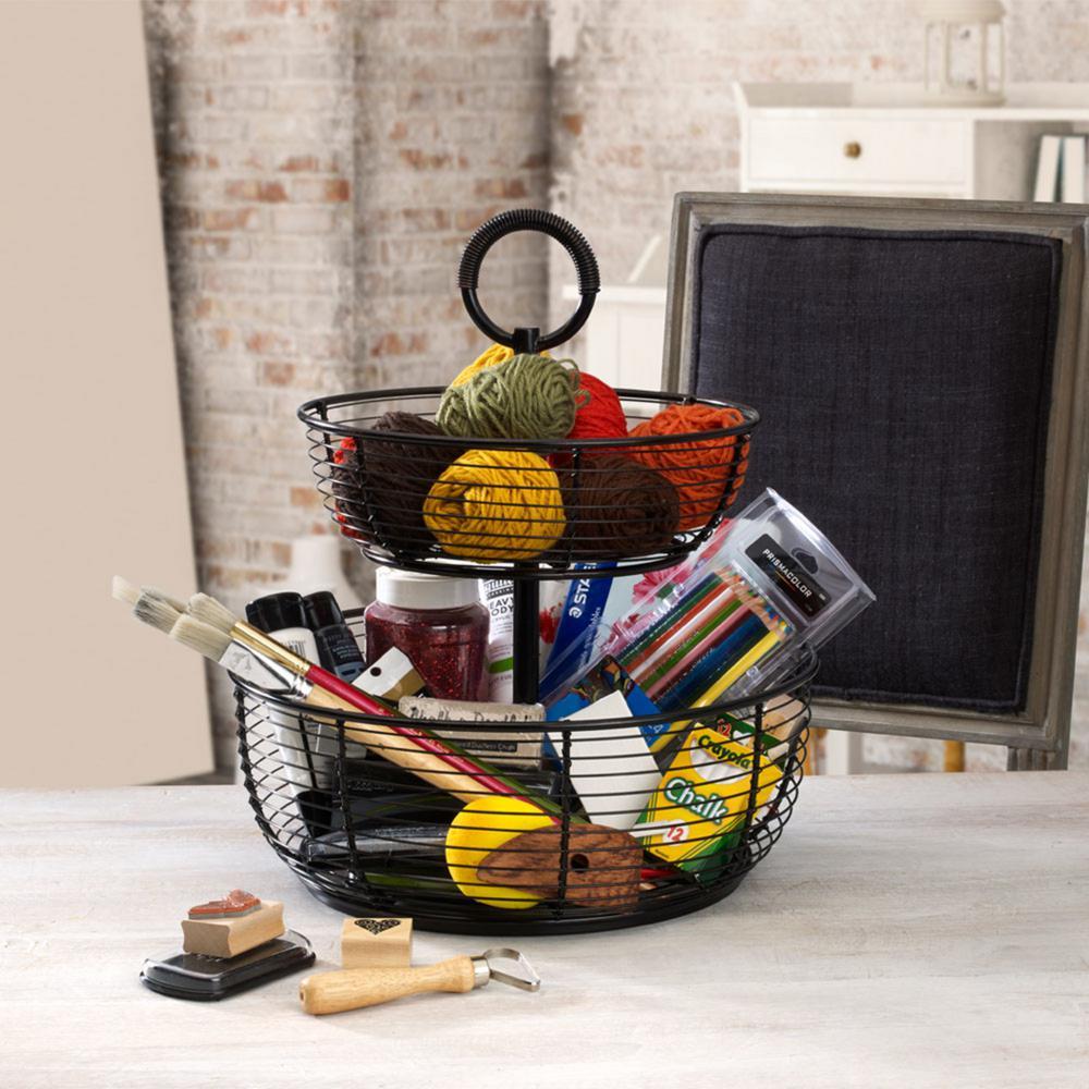 Gourmet Basics by Mikasa 3-Tier Round Wrap Basket