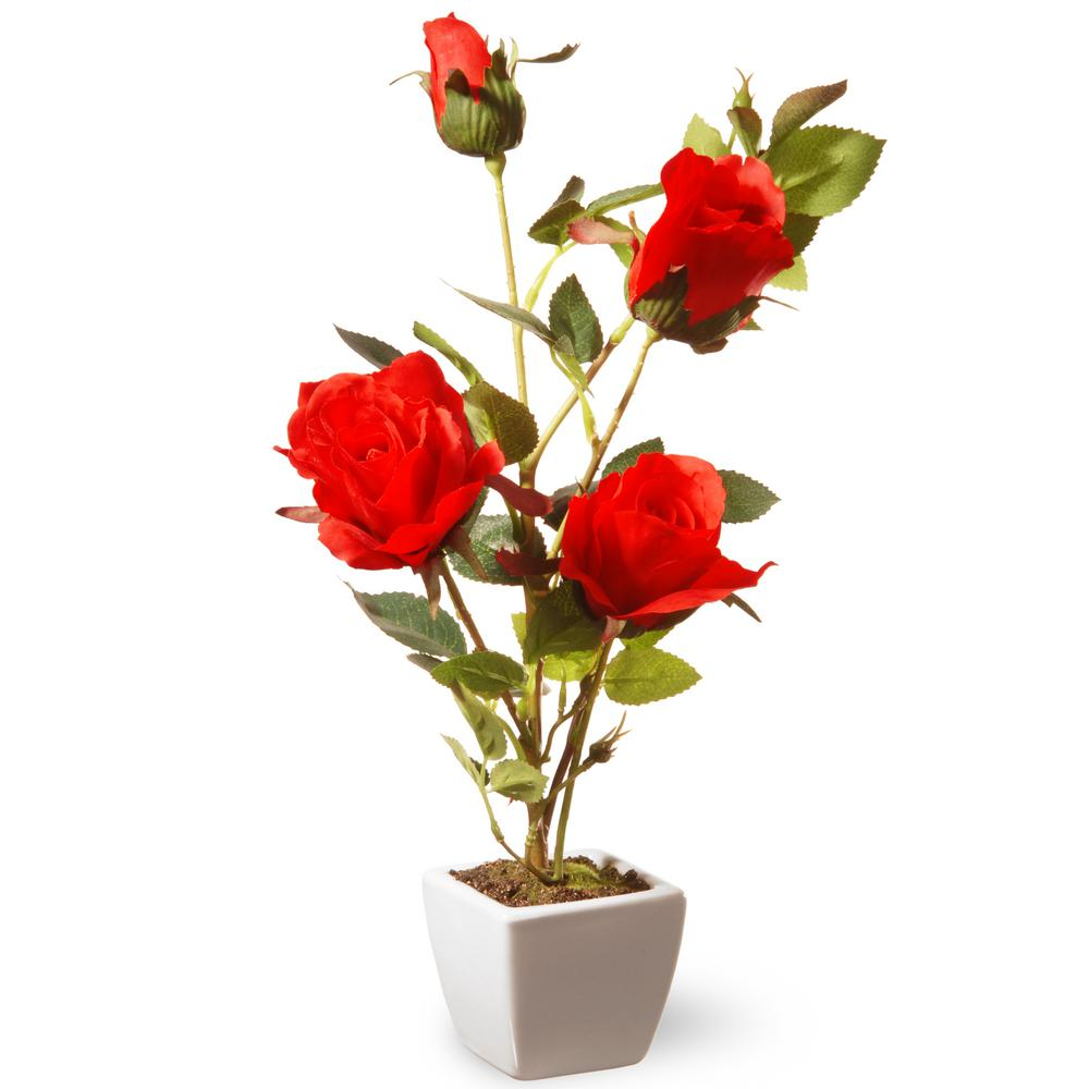 National Tree 15 in. Red Rose Flower