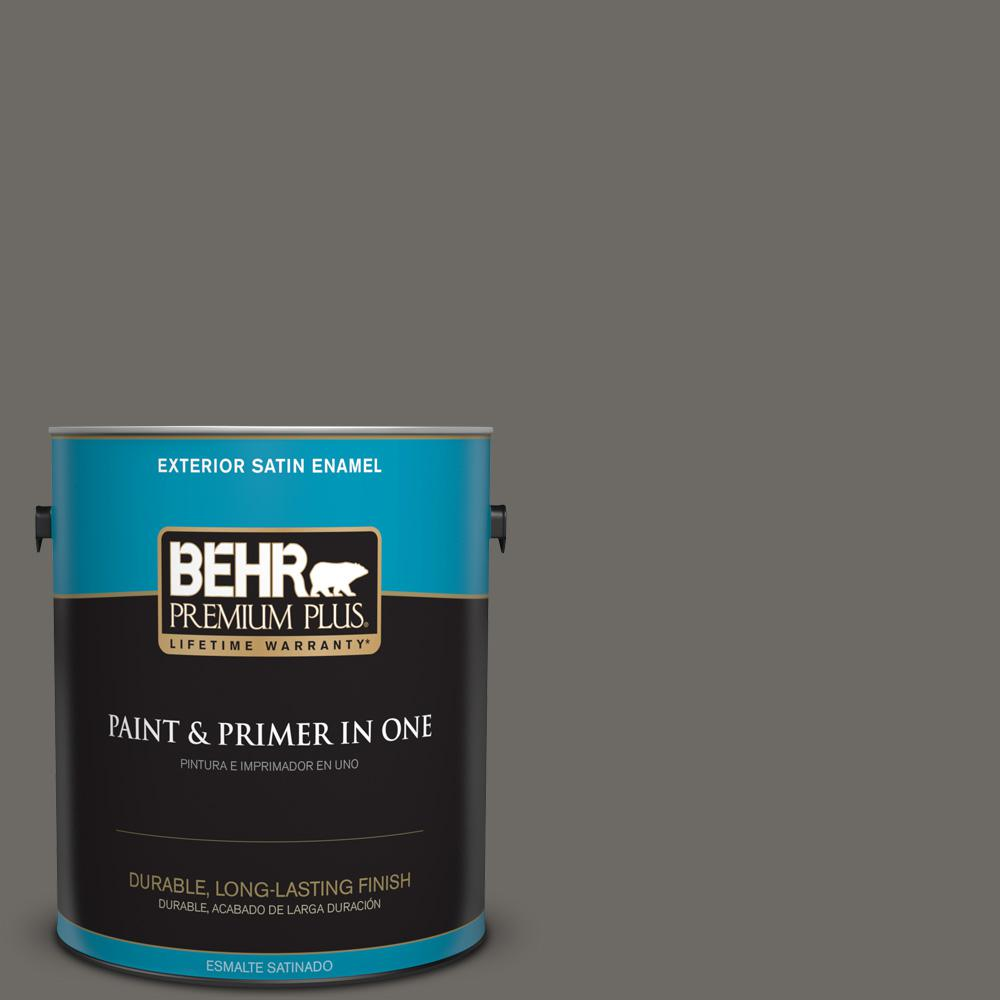 1 gal. #PPU18-18 Mined Coal Satin Enamel Exterior Paint