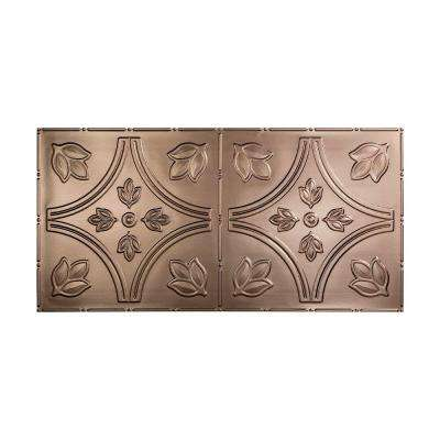 Traditional 5 - 2 ft. x 4 ft. Glue-up Ceiling Tile in Brushed Nickel