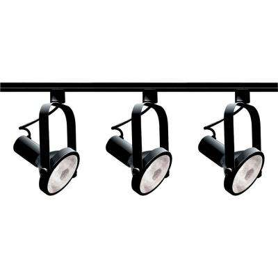 3-Light PAR30 Black Gimbal Ring Track Lighting Kit