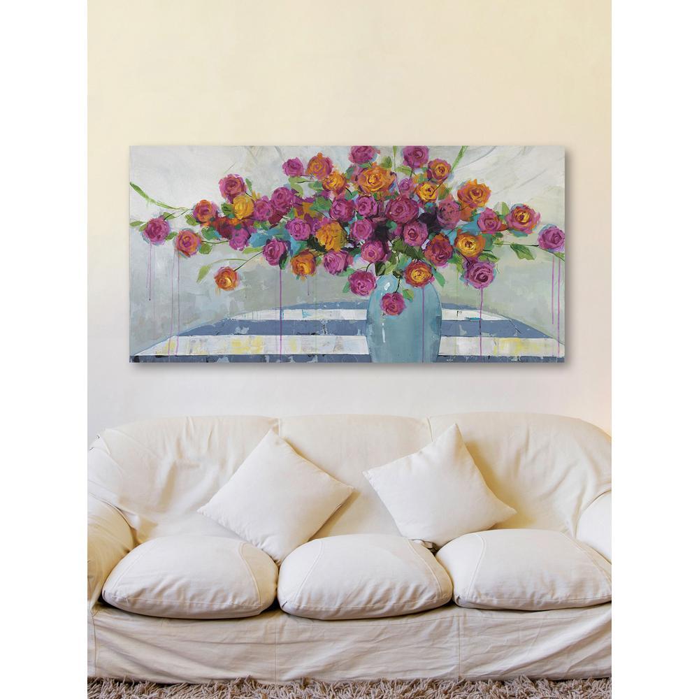 "30 in. H x 60 in. W ""Vase Overflow"" by Julie"