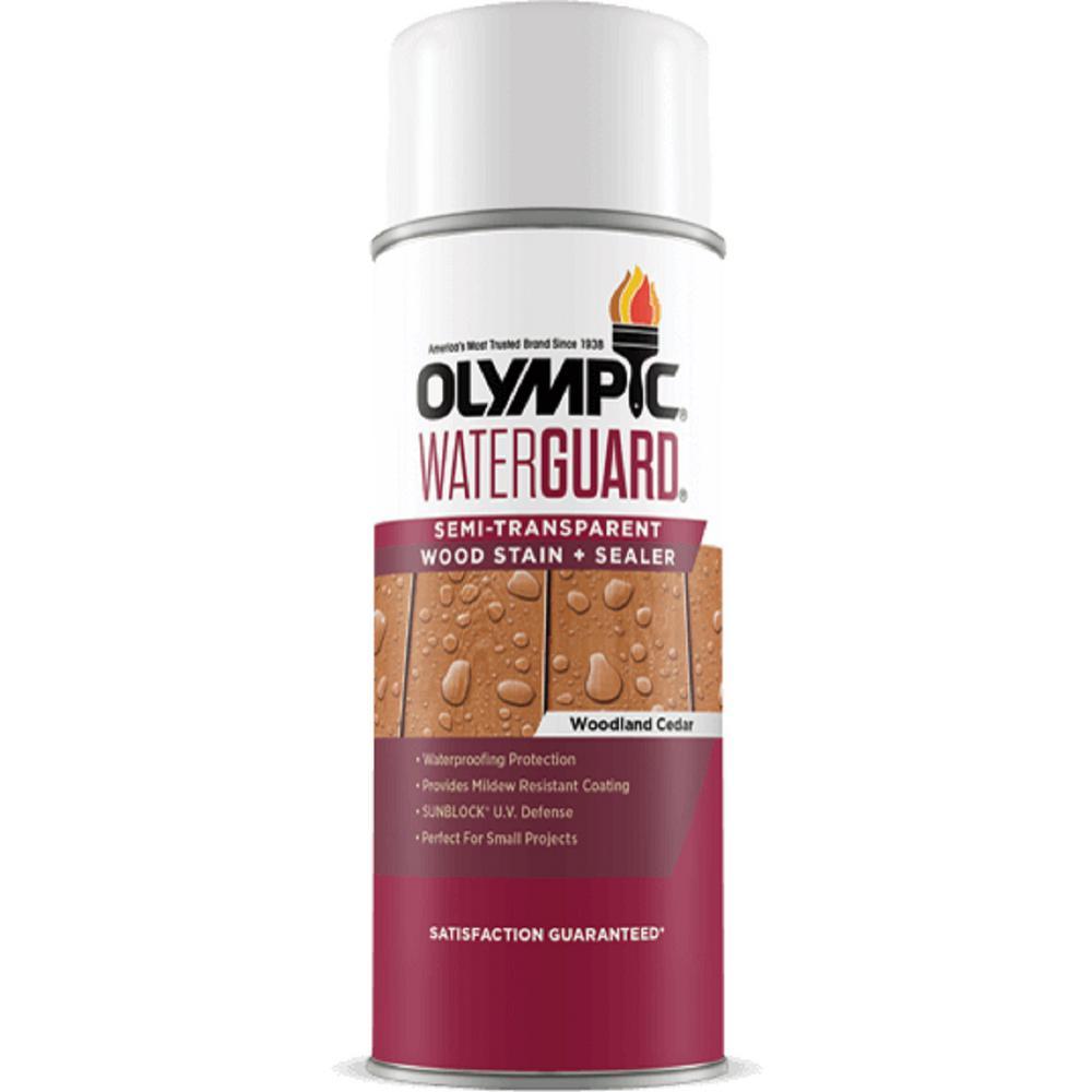 Olympic WaterGuard 11.75 oz. Woodland Cedar Semi-Transparent Wood Stain Plus Sealer