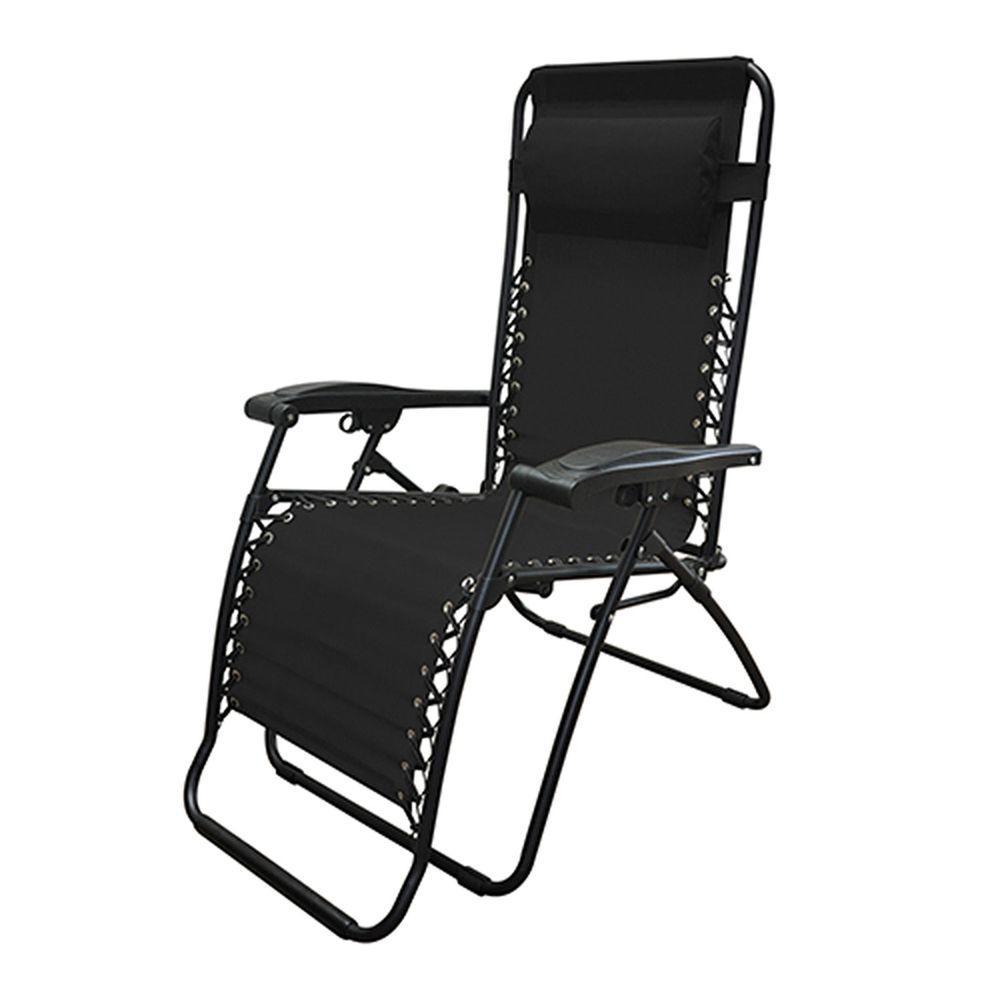 Caravan Black Infinity Zero Gravity Patio Chair (2-Pack)