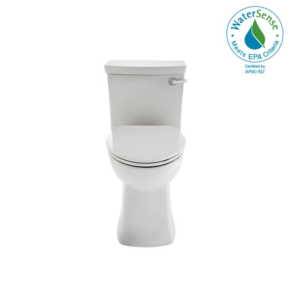 American Standard Townsend Vormax Tall Height 1 Piece 28 6 Gpf Single Flush Elongated Toilet In White Seat Included