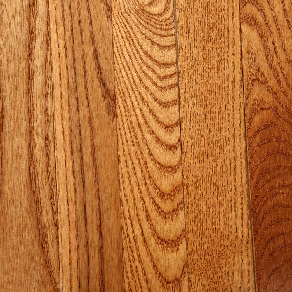 Bruce american home ash gunstock 3 4 in thick x 2 1 4 in for Ash hardwood flooring