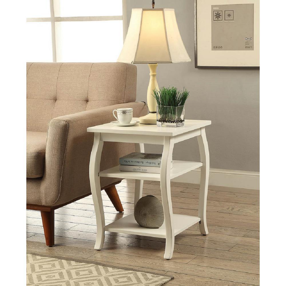 Acme furniture becci white storage end table 82828 the for White end table with storage