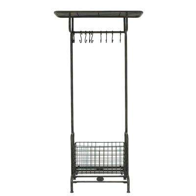 Metal Rack with Hooks