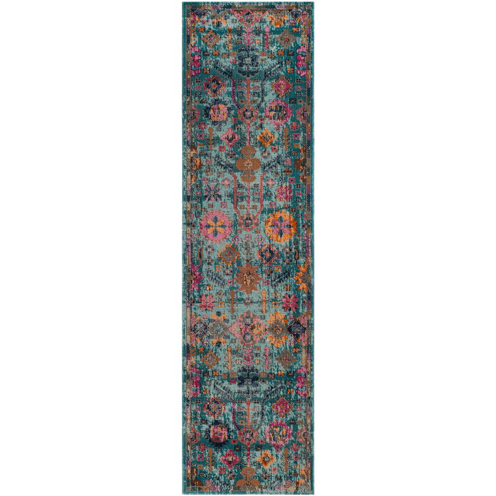 Artisan Light Blue/Multi 2 ft. x 8 ft. Runner