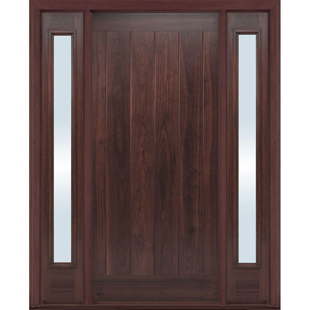 Masonite 36 in x 80 in avantguard flagstaff left hand for Black wooden front door