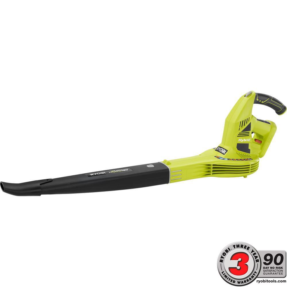 Ryobi ONE+ 150 MPH 200 CFM 18-Volt Lithium-Ion Hybrid Leaf Blower/Sweeper - Battery and Charger Not Included