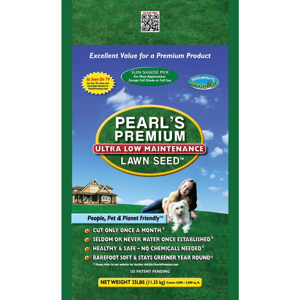 Pearls Premium 25 lb. Sun-Shade Mix Lawn Seed-DISCONTINUED