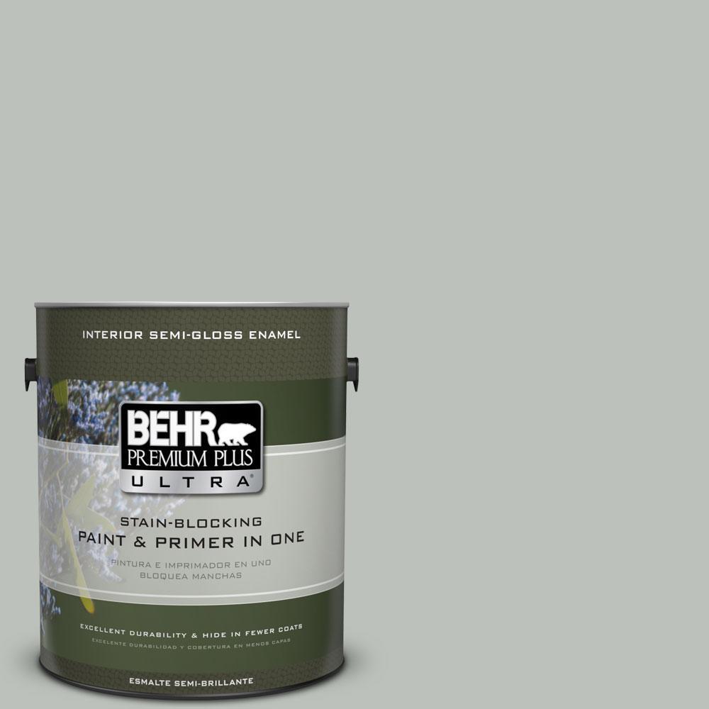 BEHR Premium Plus Ultra 1-gal. #710E-3 Rhino Semi-Gloss Enamel Interior Paint