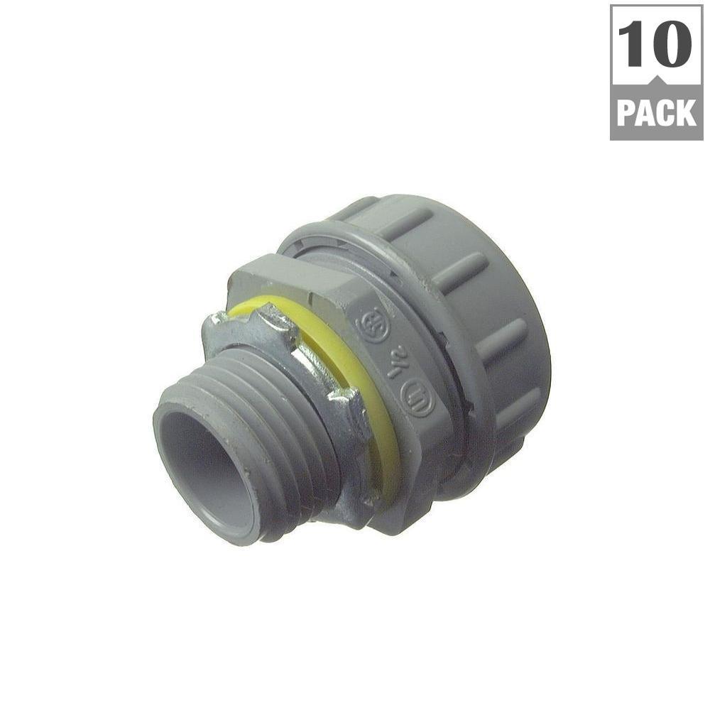 3/4 in. Liquid Tight Connector Nylon Multipiece (10-Pack)