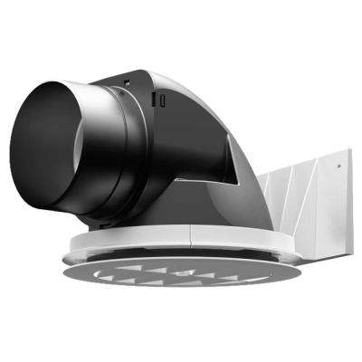 Liberator 8 in. x 5.875 in. Plastic Bathroom Fan Soffit Termination System in White