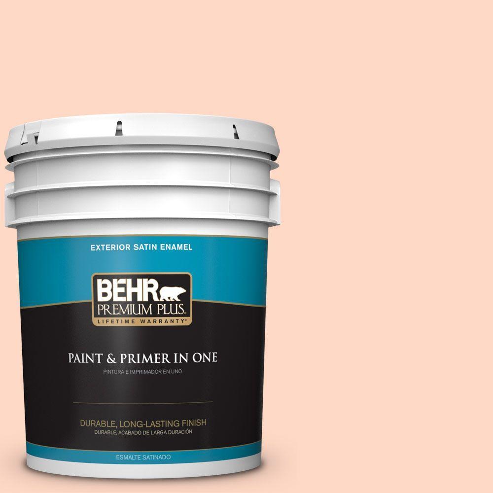 BEHR Premium Plus 5-gal. #220A-2 Friendship Satin Enamel Exterior Paint