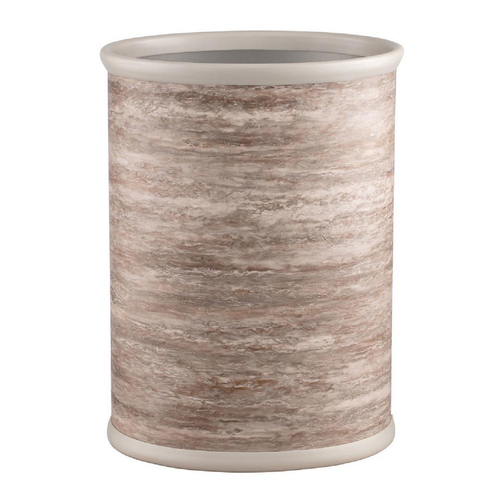 13 Qt. Smoke Stone Oval Waste Basket