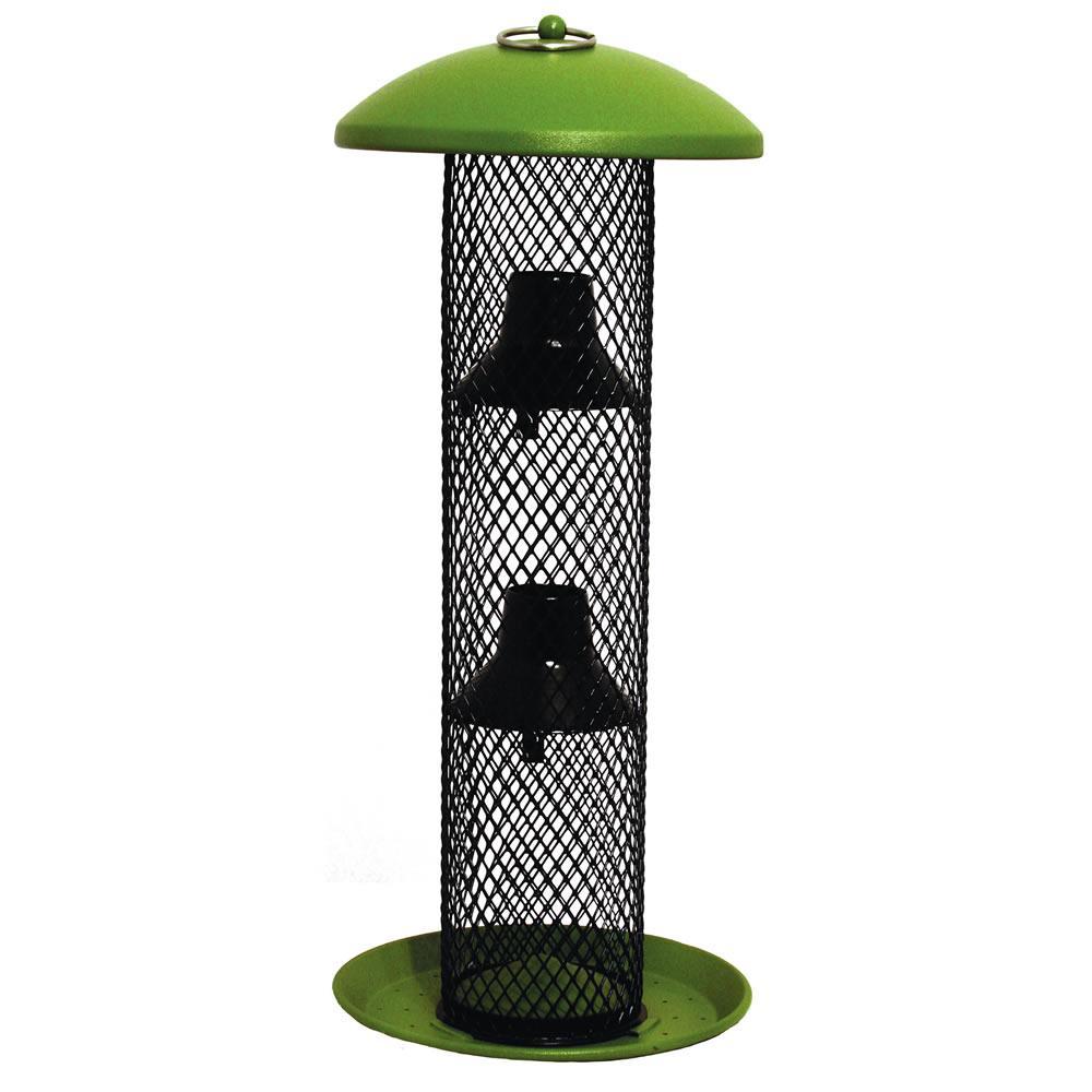 Green Straight-Sided Sunflower Tube Hanging Bird Feeder - 1.5 lb. Capacity
