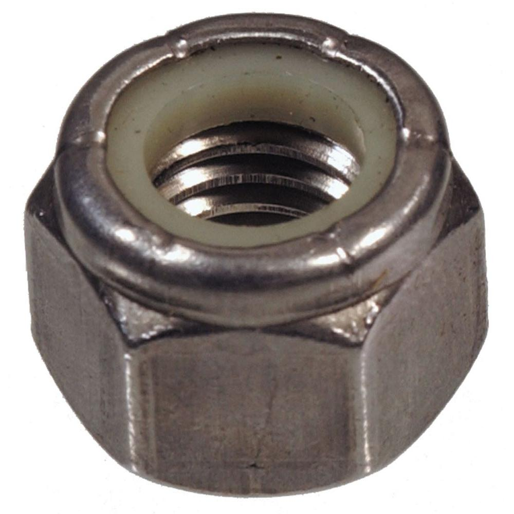 The Hillman Group 1/4-20 Coarse Stainless-Steel Nylon Insert Cap Lock Nuts (4-Pack)