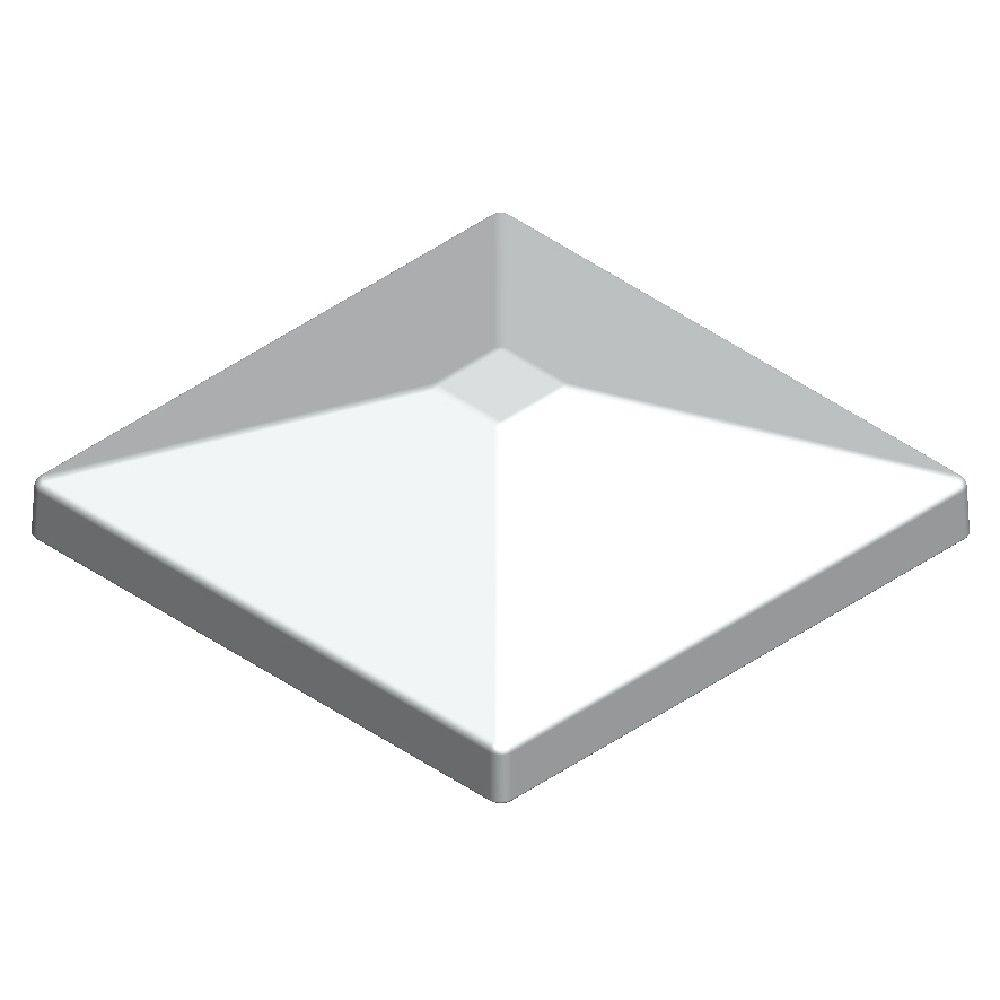 Pegatha 3.5 in. x 3.5 in. Aluminum White Pyramid Post Top