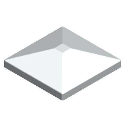 3.5 in. x 3.5 in. Aluminum White Pyramid Post Top