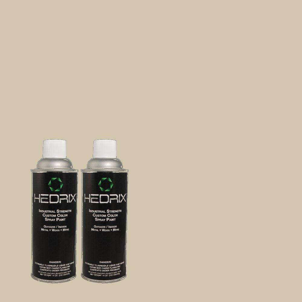 Hedrix 11 oz. Match of C40-51 Bleached Ash Flat Custom Spray Paint (2-Pack)
