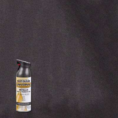 11 oz. All Surface Metallic Black Stainless Steel Spray Paint and Primer in One (6-Pack)