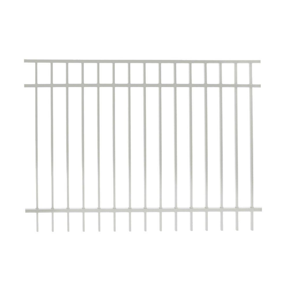 Vinnings 4 ft. H x 6 ft. W White Aluminum Fence