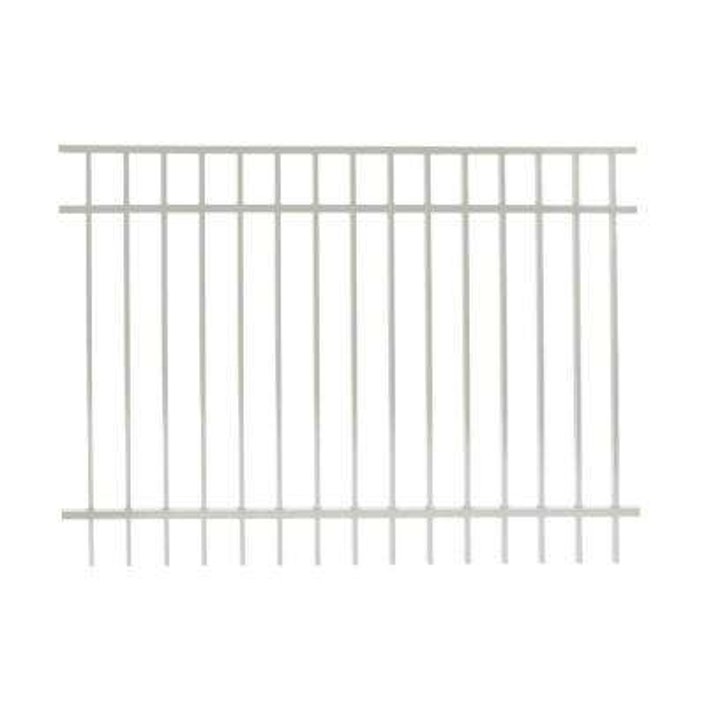 Vinnings 4 ft. H x 6 ft. W White Aluminum Fence Panel