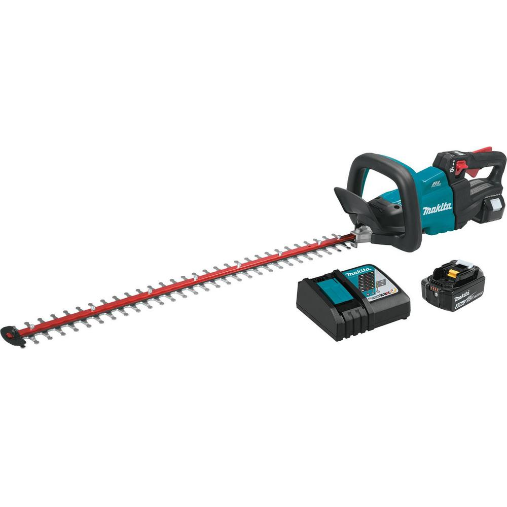 "Makita 18 Volts LXT Lithium-Ion Brushless Cordless 30 "" Hedge Trimmer Kit (5.0 Ah)"