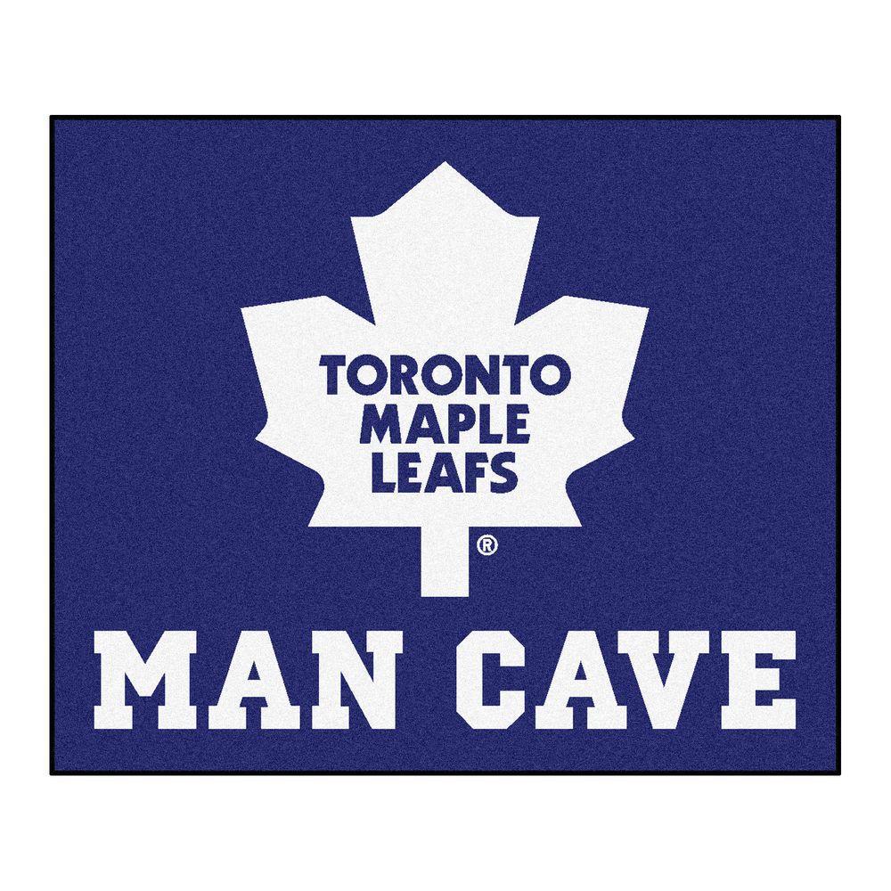 Fanmats Toronto Maple Leafs Blue Man Cave 5 Ft X 6 Ft
