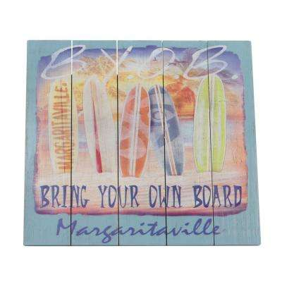 Bring Your Own Board Outdoor Wall Art Sign